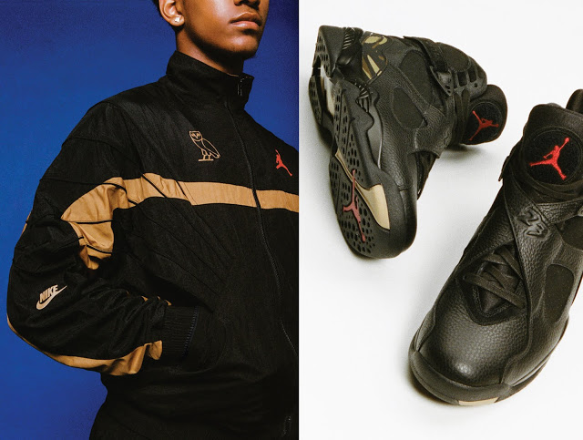 0efa9f84e49 Both of these releases feature the gold accents. The OVO x Air Jordan  Flight Suit comes in two colorway, the white and black. Drake was  previously seen ...